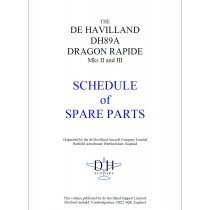 DRAGON RAPIDE SCHEDULE OF SPARE PARTS